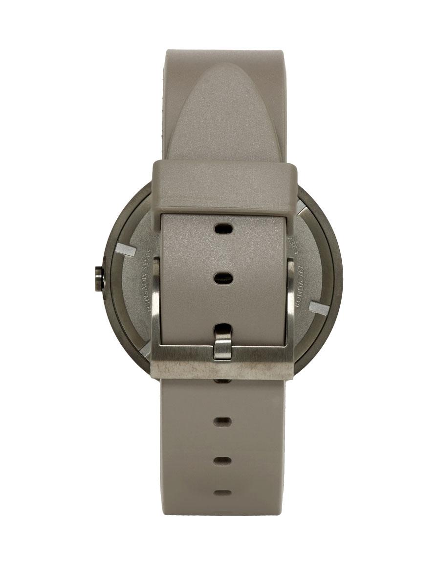 UNIFORM WARES Grey Rubber M37 Watch