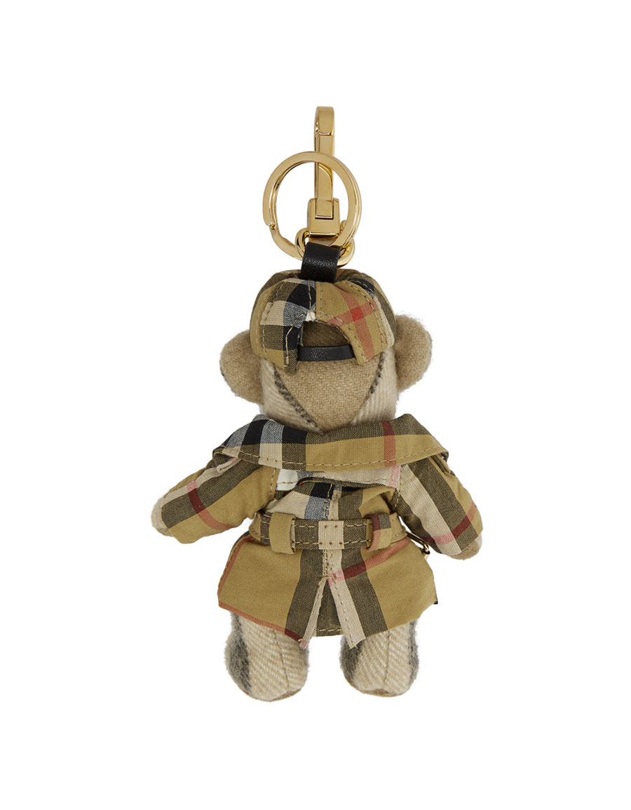 BURBERRY Tan Thomas Check Print Trench Coat Keychain