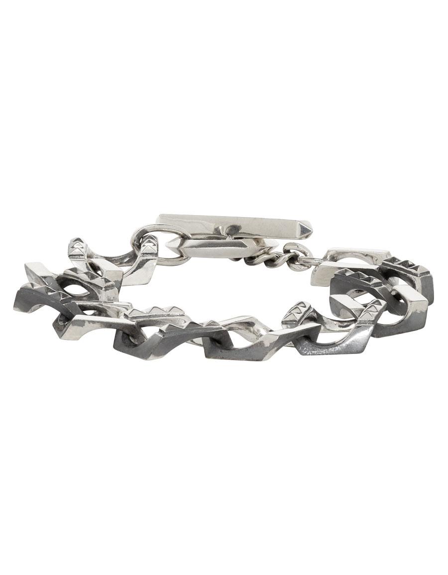 ALMOSTBLACK Silver Big Chain Bracelet