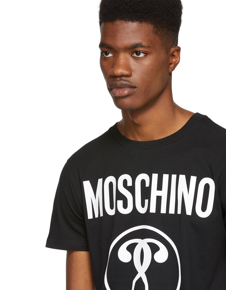MOSCHINO Black 'Milano' Logo T Shirt