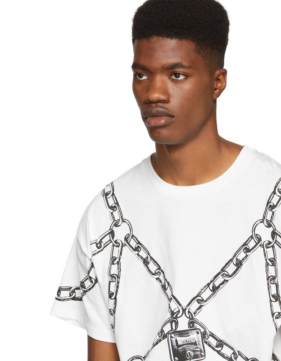MOSCHINO White Chain T Shirt