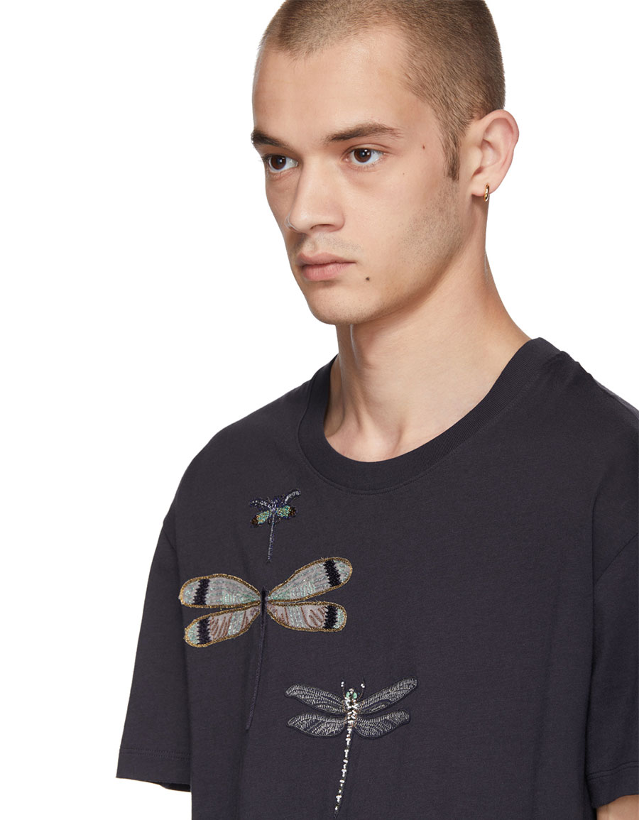 VALENTINO Navy Dragon Fly T Shirt