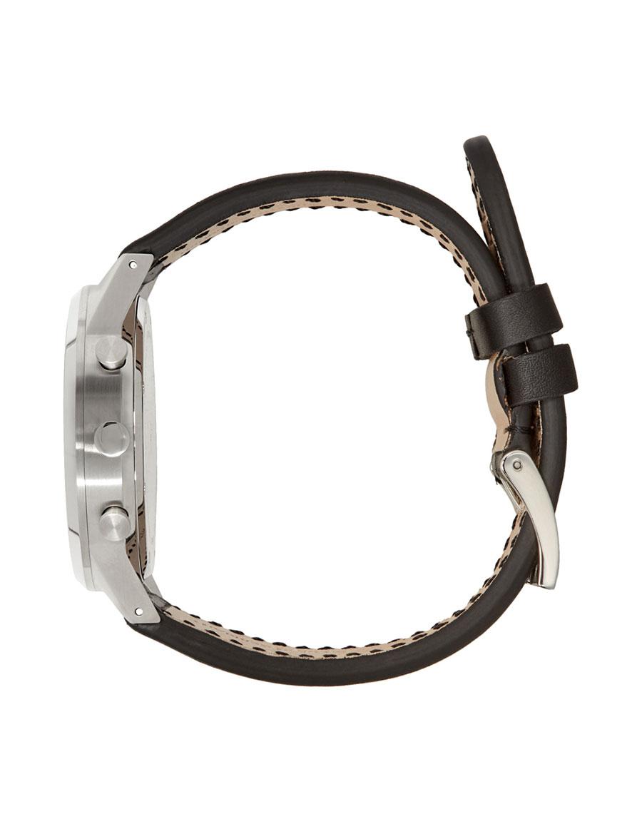 UNIFORM WARES Black Leather C39 Chronograph Watch