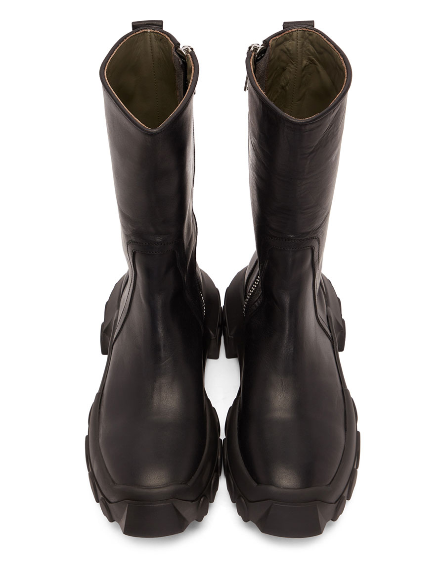 RICK OWENS Black Tractor Boots · VERGLE