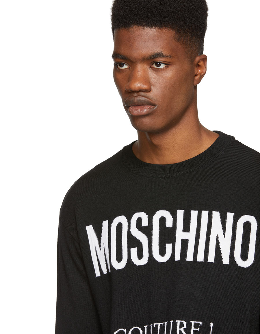MOSCHINO Black 'Couture!' Crewneck Sweater