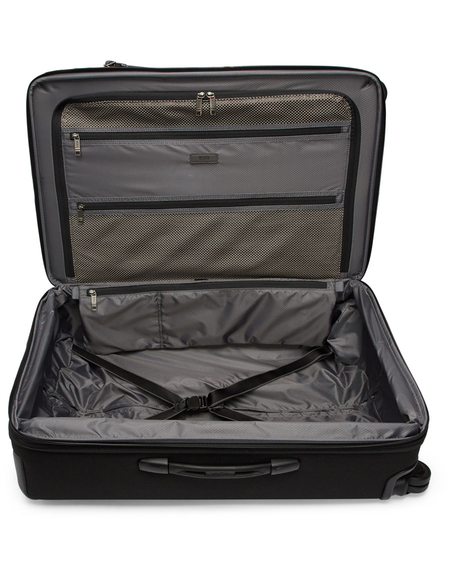TUMI Black Short Trip Expandable Packing Suitcase