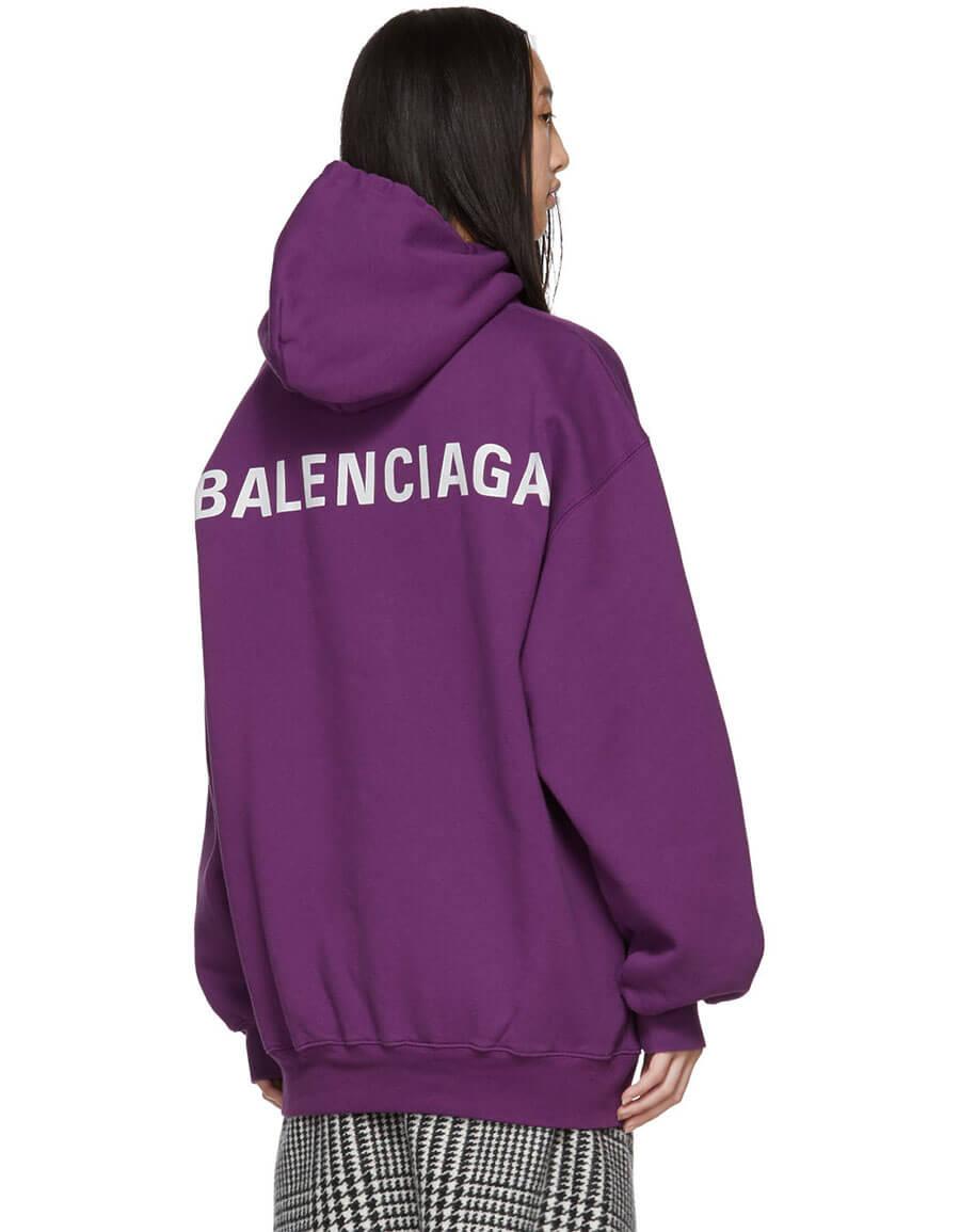 balenciaga hoodie mens purple