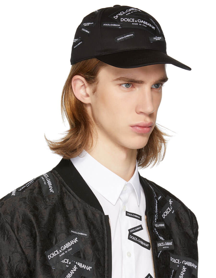 DOLCE & GABBANA Black Patch Baseball Cap