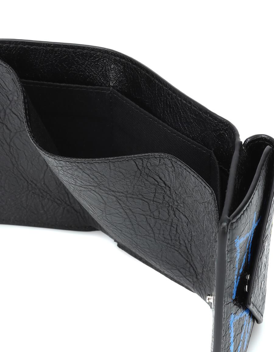 BALENCIAGA Paper Mini Graffiti leather wallet