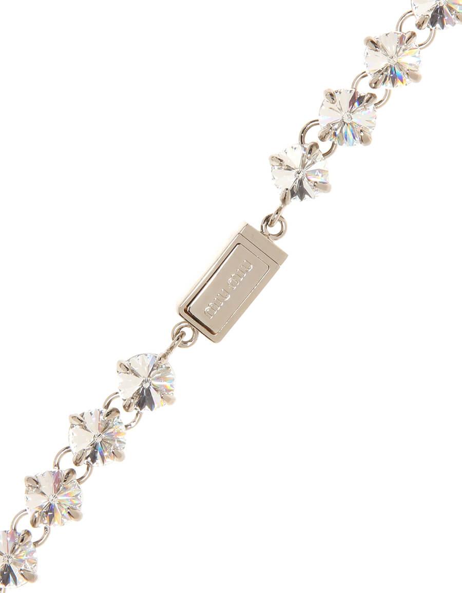 MIU MIU Crystal and faux pearl necklace