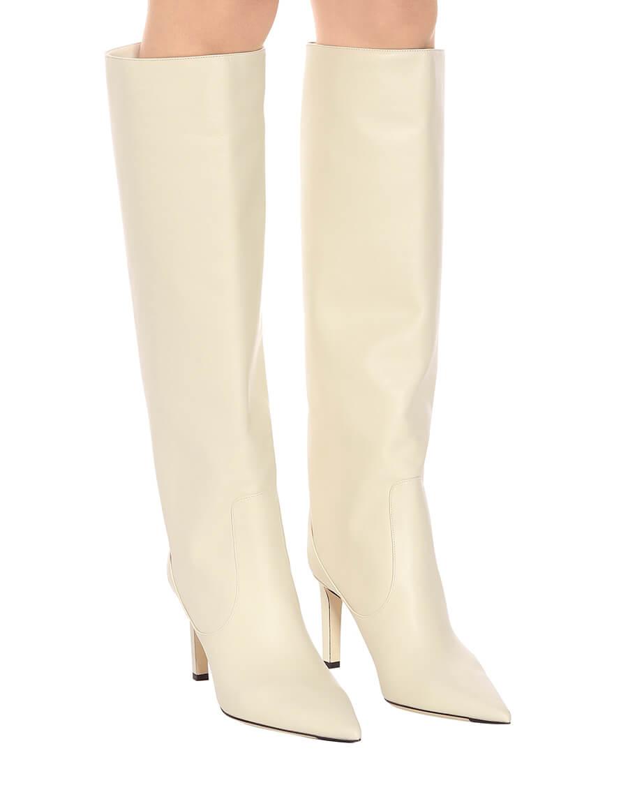 JIMMY CHOO Mavis 85 leather boots · VERGLE