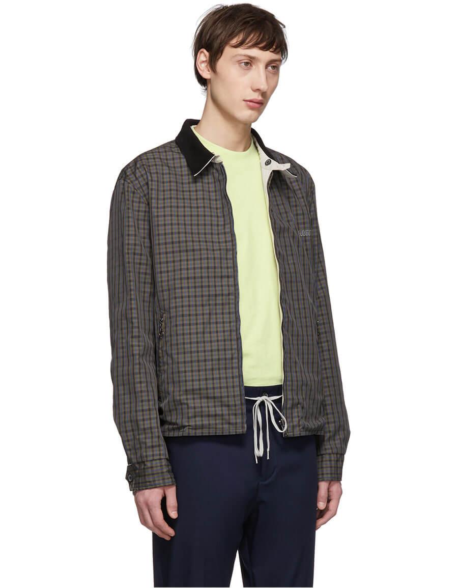 LANVIN Reversible Grey Shirt Jacket