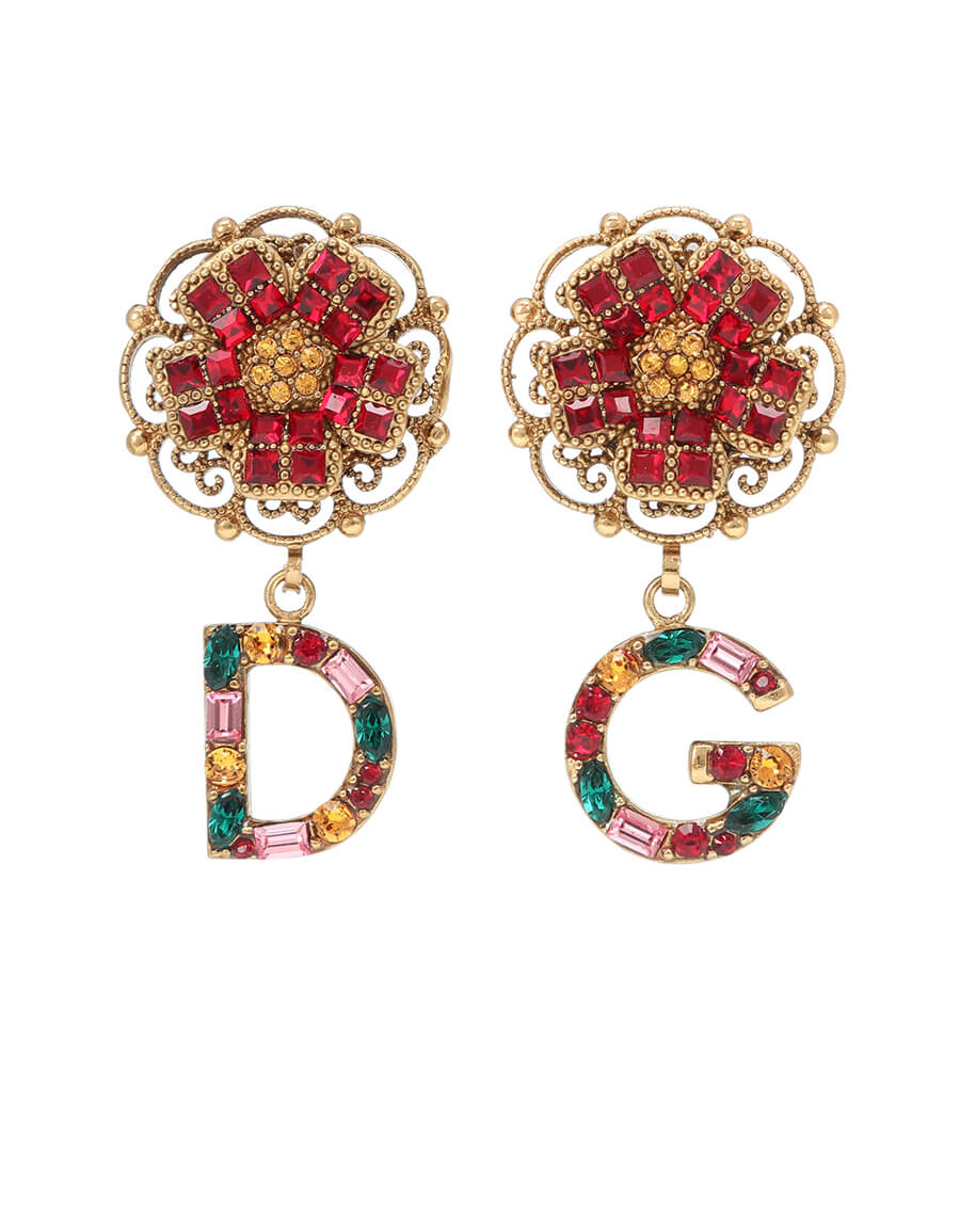 DOLCE & GABBANA Floral clip on earrings