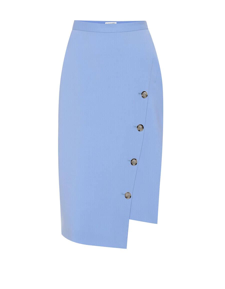 ALTUZARRA Stretch wool asymmetric skirt