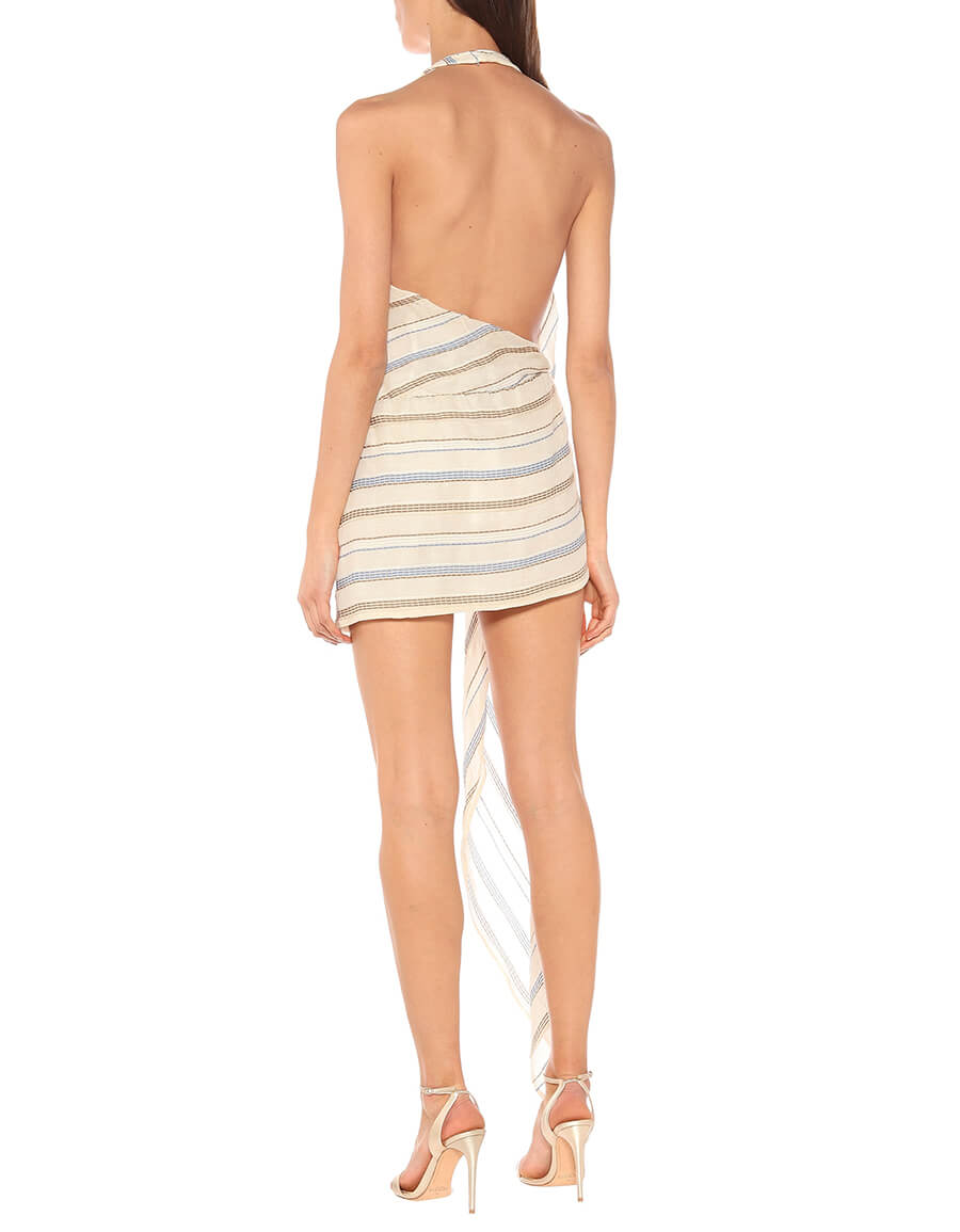 JACQUEMUS La Robe Spezia striped minidress