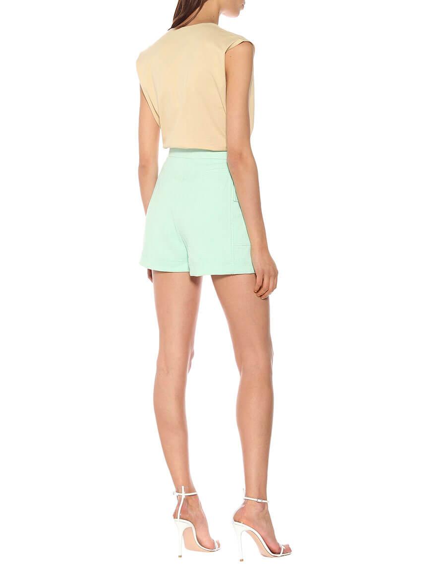 BALMAIN High rise cotton shorts