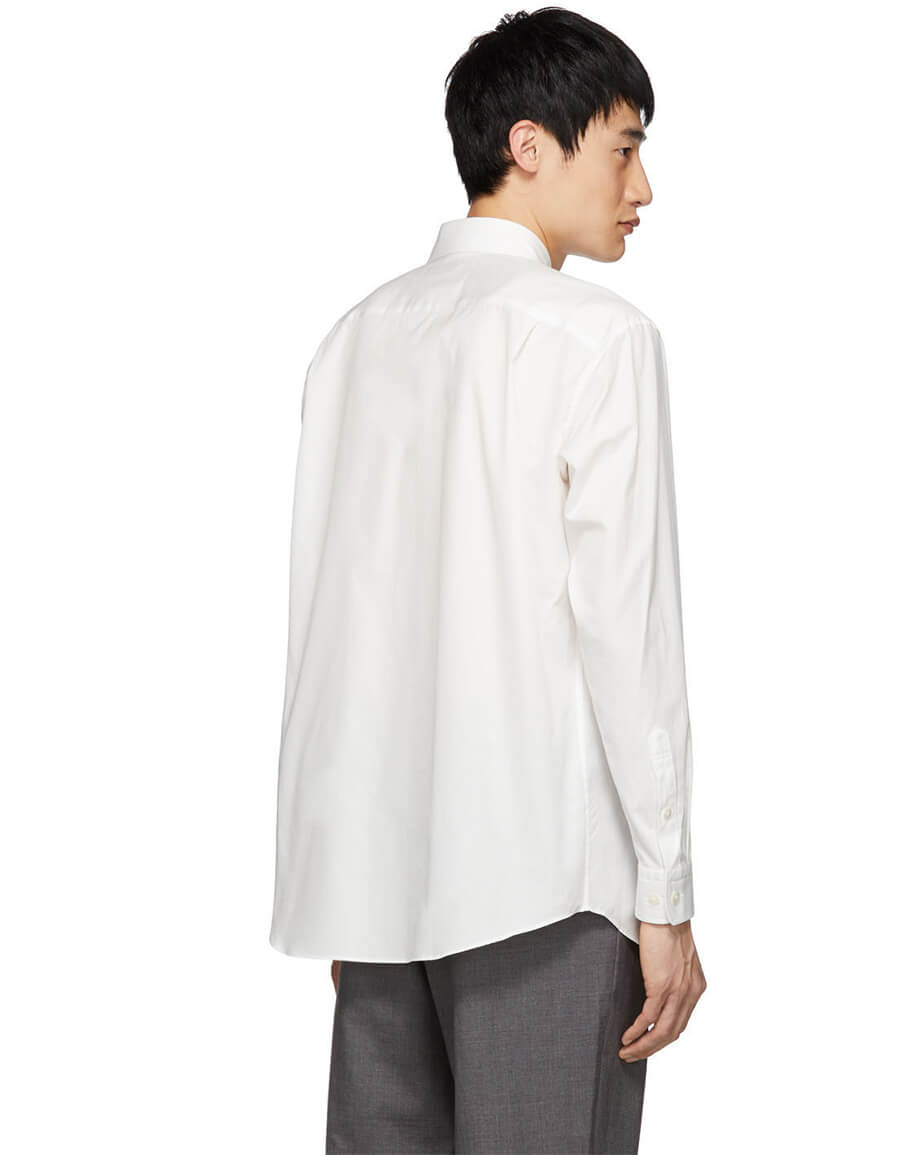 ISSEY MIYAKE White Broad Cloth Shirt