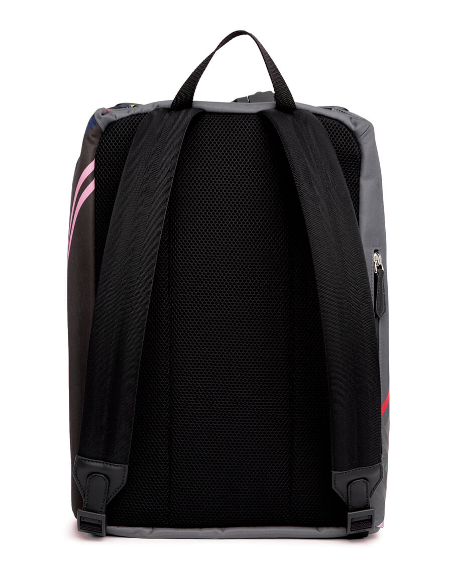 FENDI Grey & Multicolor 'Forever Fendi' Backpack