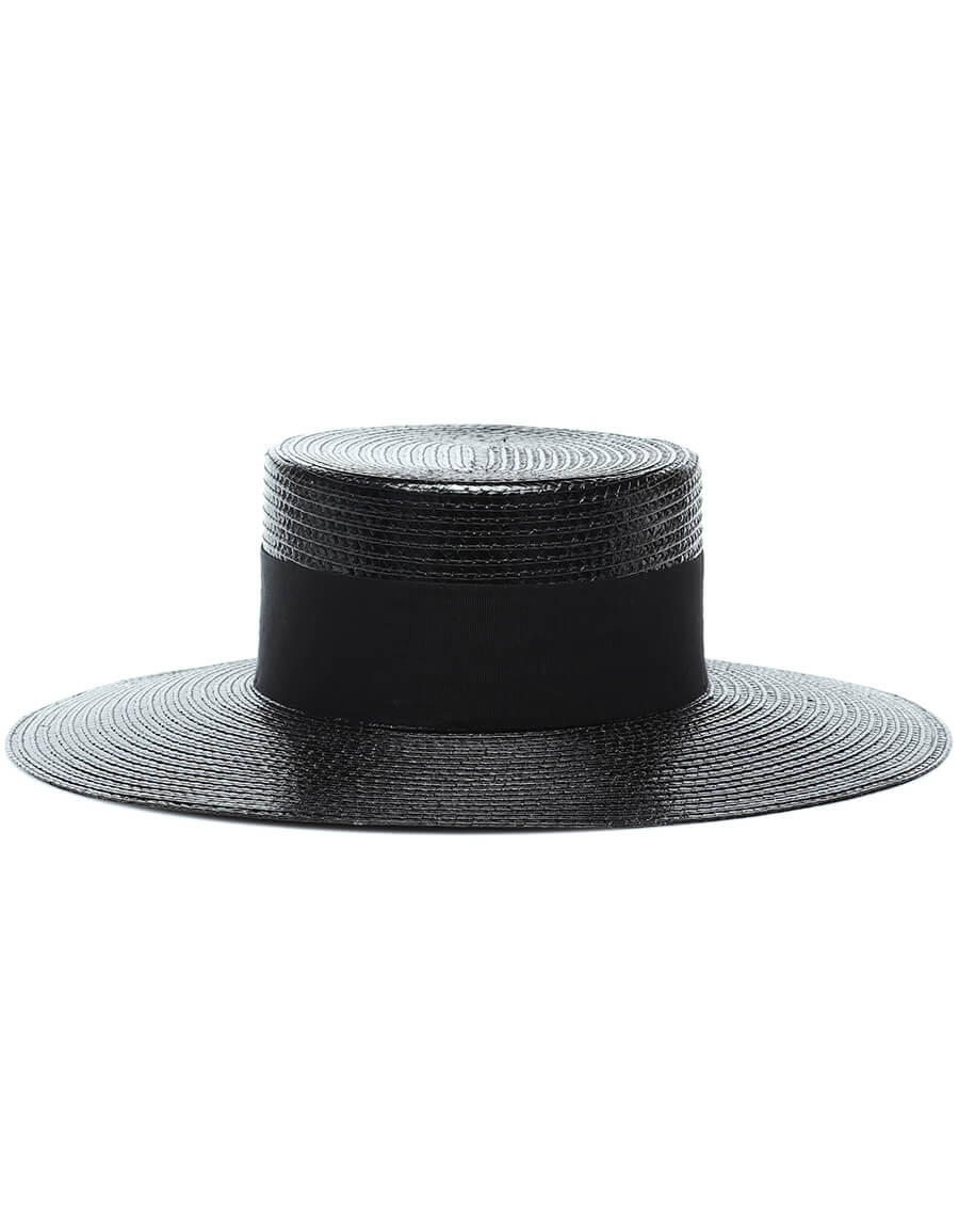 SAINT LAURENT Wide brimmed straw hat