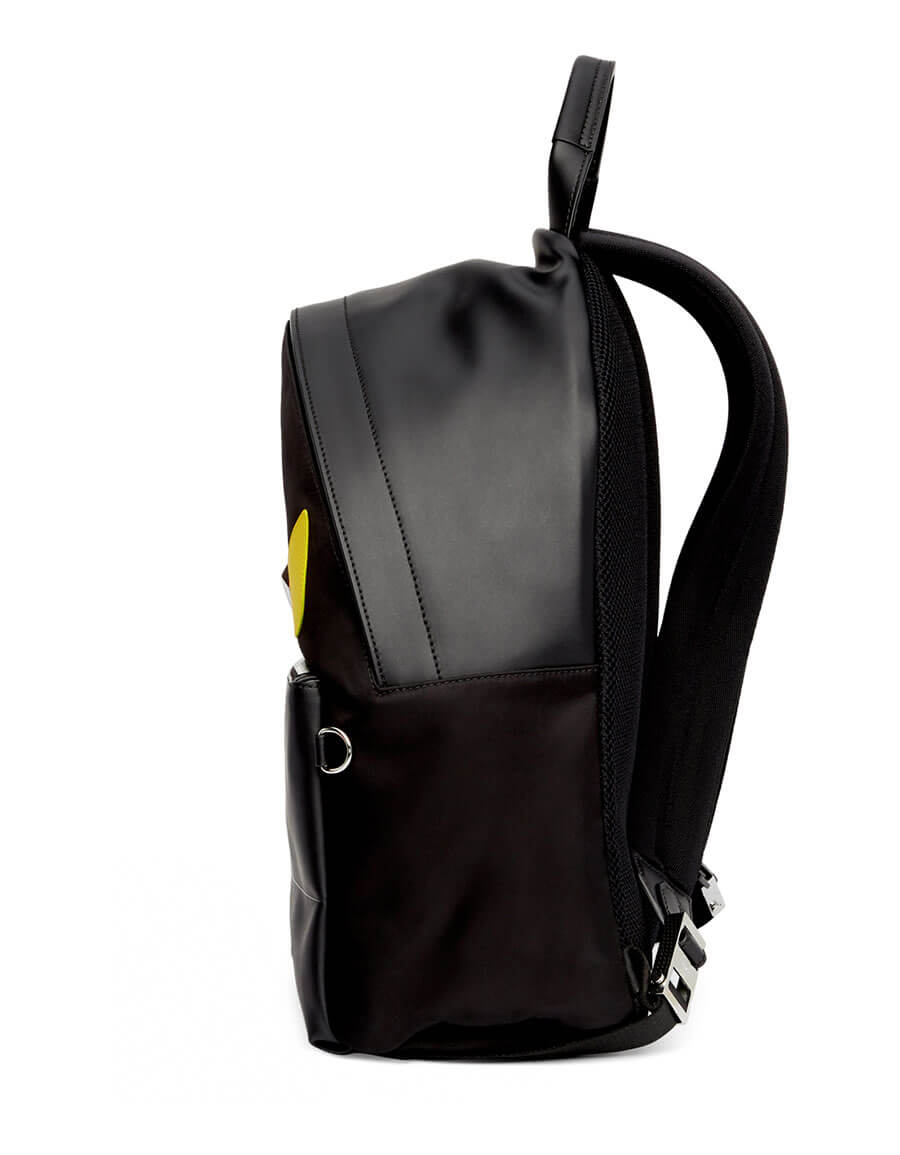 FENDI Black & Yellow Bag Bugs Backpack