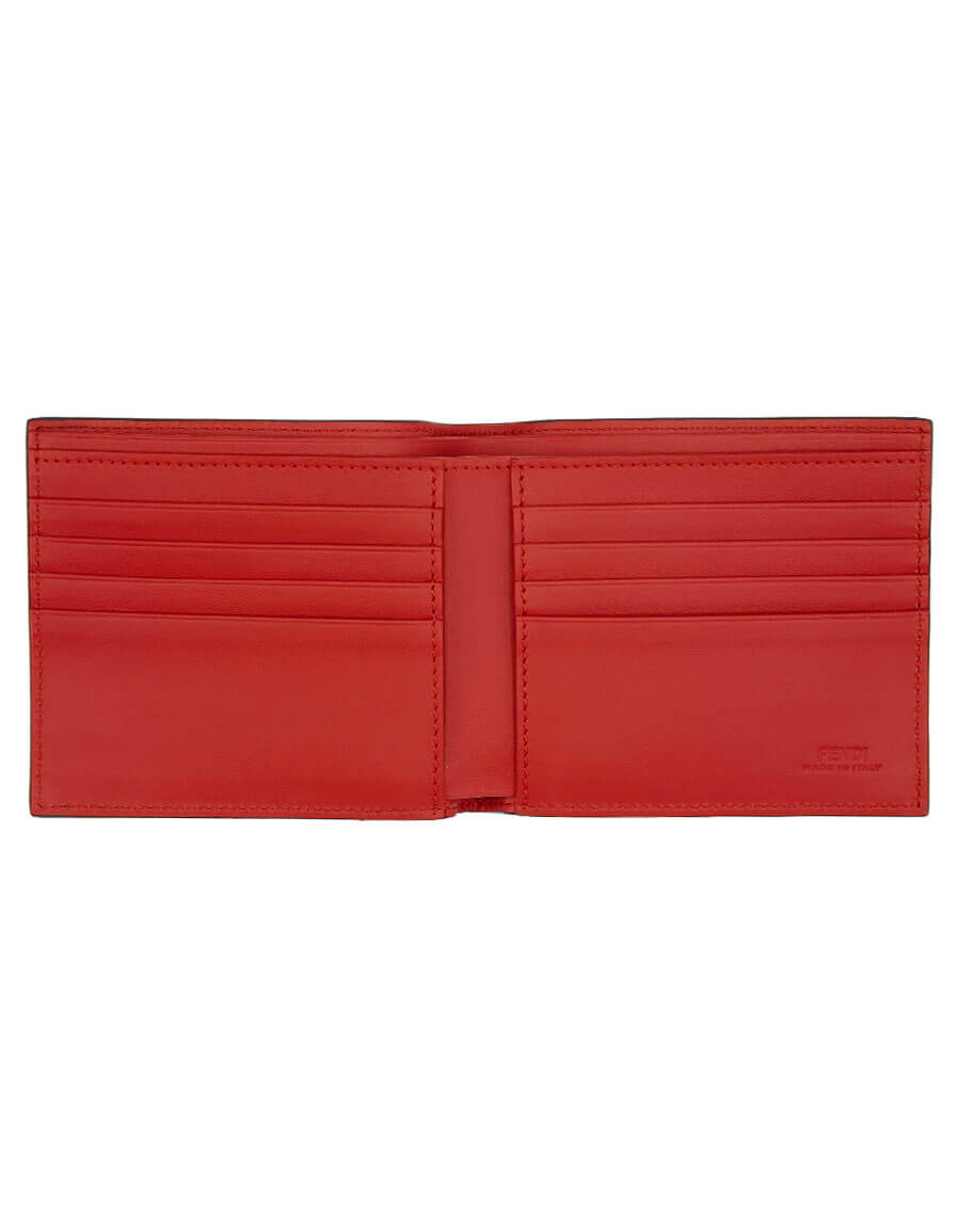 FENDI Black 'FF' Bag Bugs Wallet