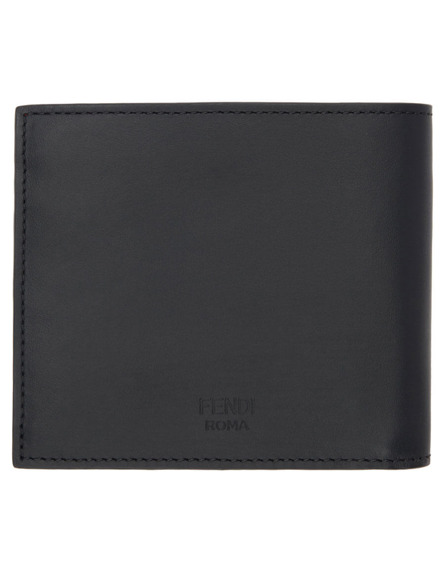 FENDI Black 'FF' Bag Bugs Wallet