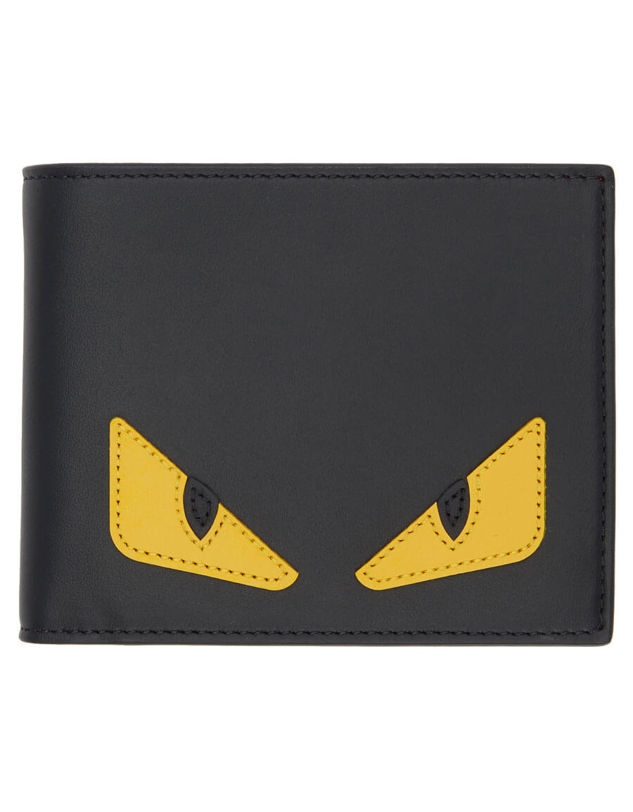 FENDI Black & Yellow Bag Bugs Wallet