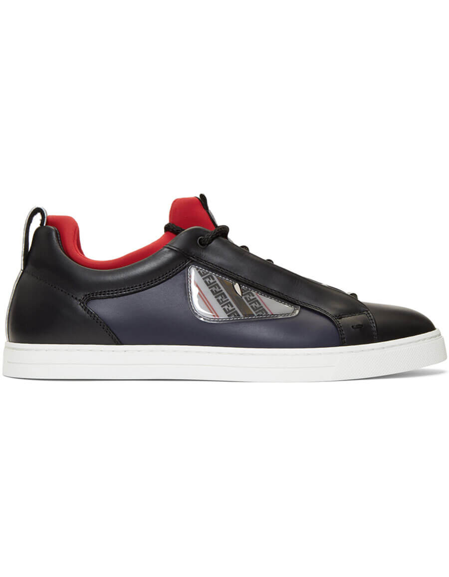 FENDI Black & Navy Bag Bugs Sneakers