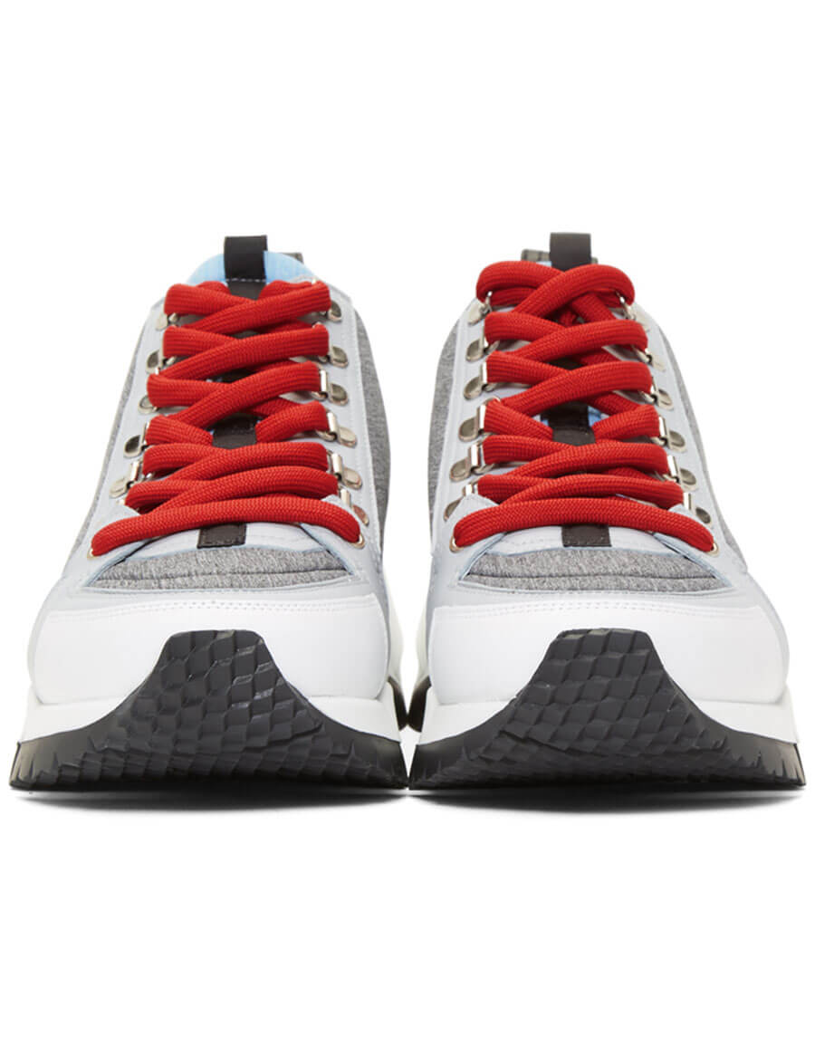 PIERRE HARDY Grey Alpine High Top Sneakers
