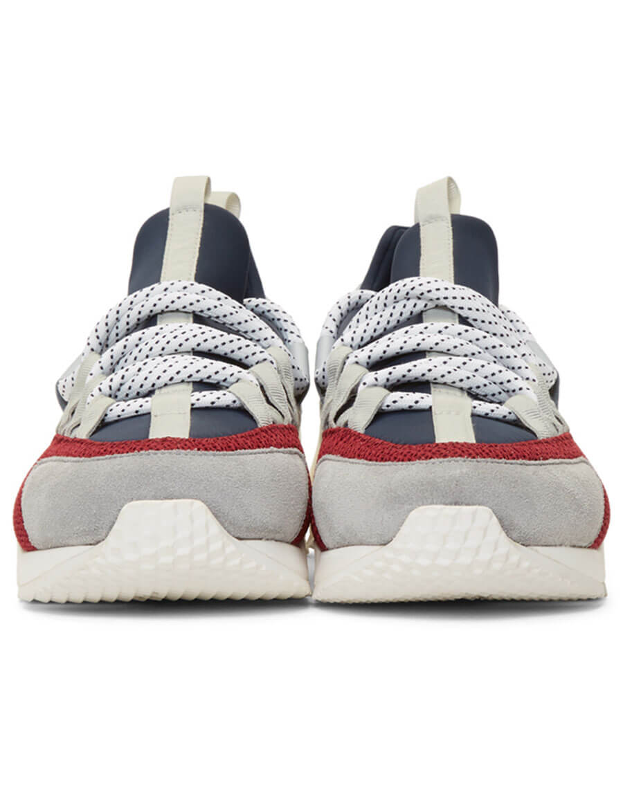 PIERRE HARDY Blue & Grey Trek Comet Sneakers