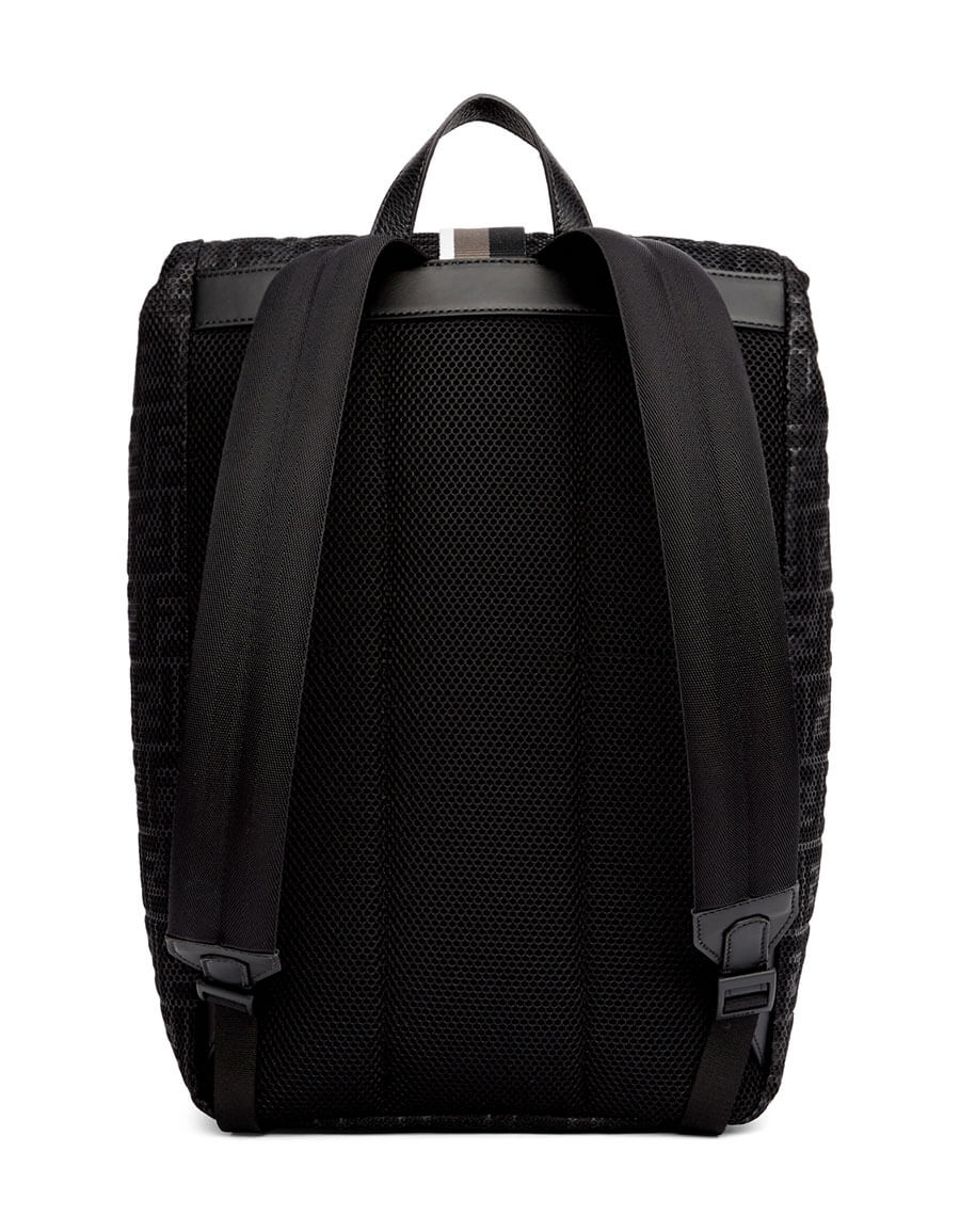 FENDI Black 'Forever Fendi' Mesh Backpack