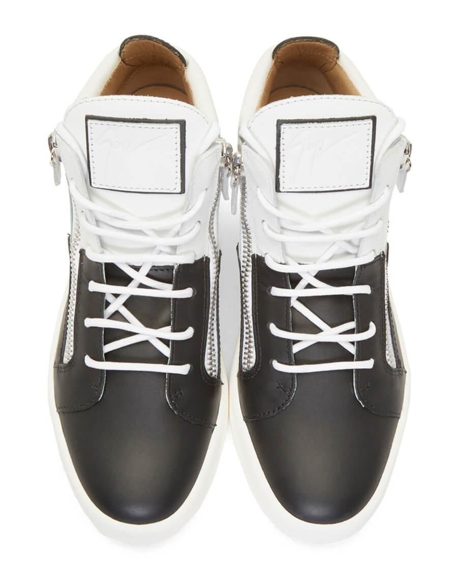 GIUSEPPE ZANOTTI Black & White Double May London High Top Sneakers