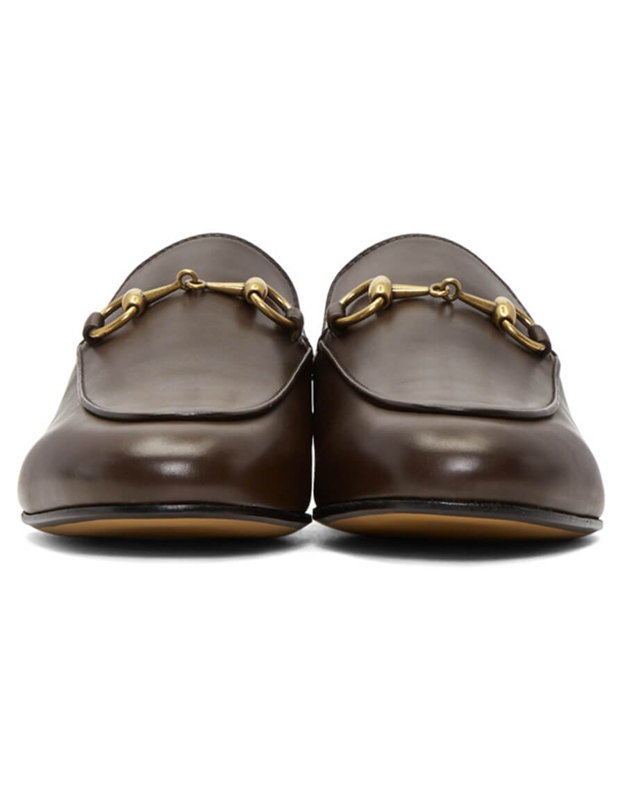 GUCCI Brown Princetown Slippers