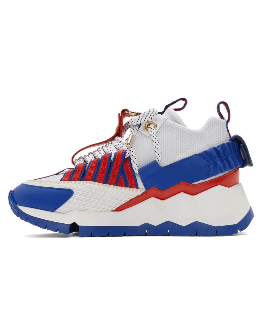 PIERRE HARDY White & Blue Victor Cruz Edition VC1 Sneakers