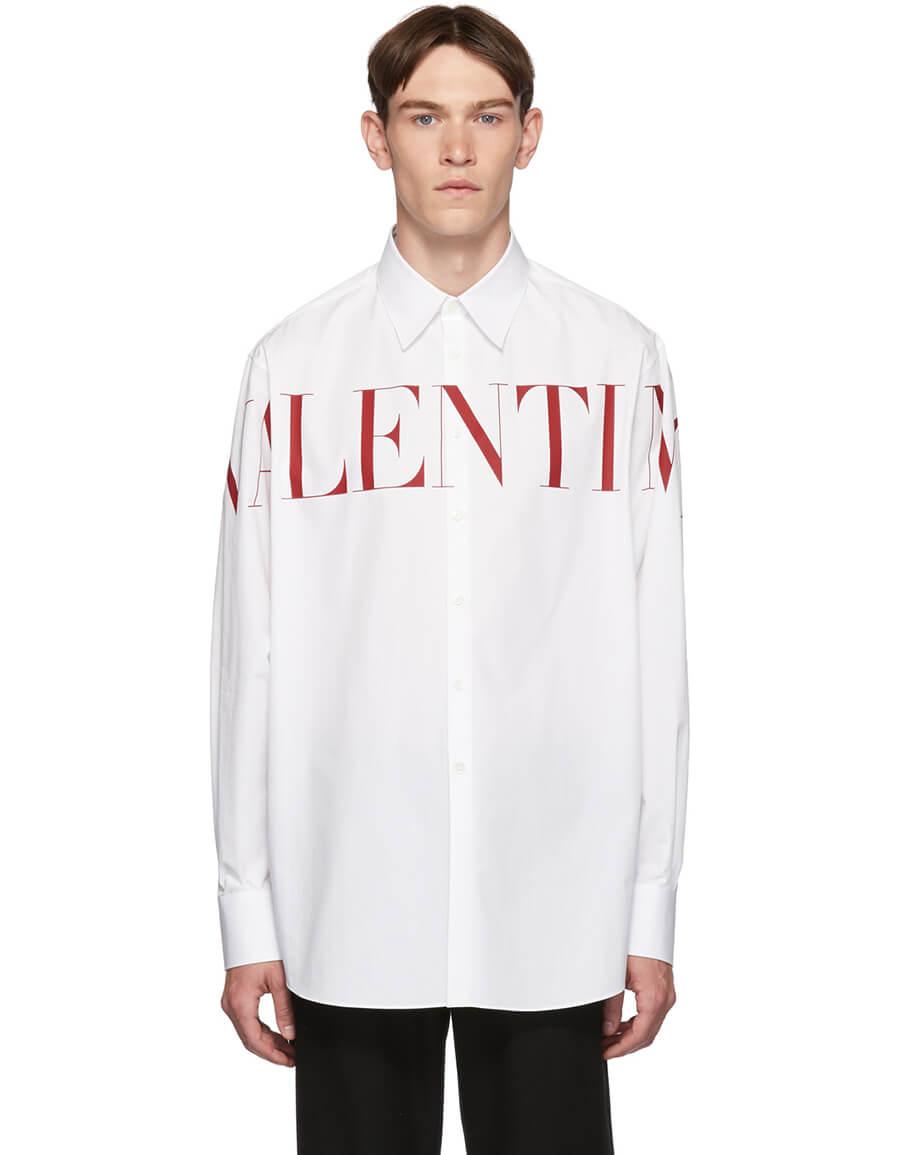 VALENTINO White Logo Shirt
