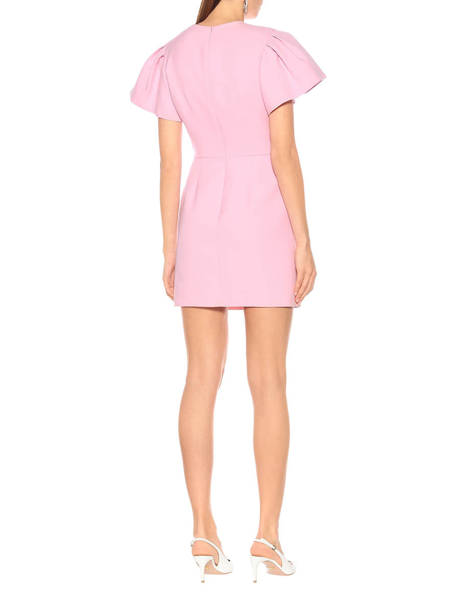 ALEXANDER MCQUEEN Wool and silk blend minidress