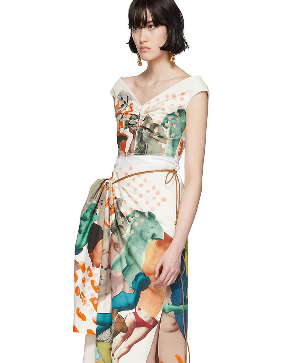 MARNI Off White Venere Print Dress