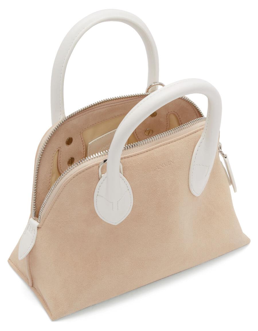 LANVIN Pink & White Mini Magot Bag
