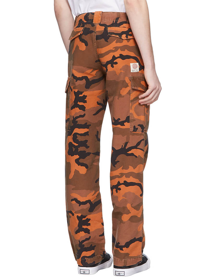 ALEXANDER MCQUEEN Orange Camo Alex Cargo Pants