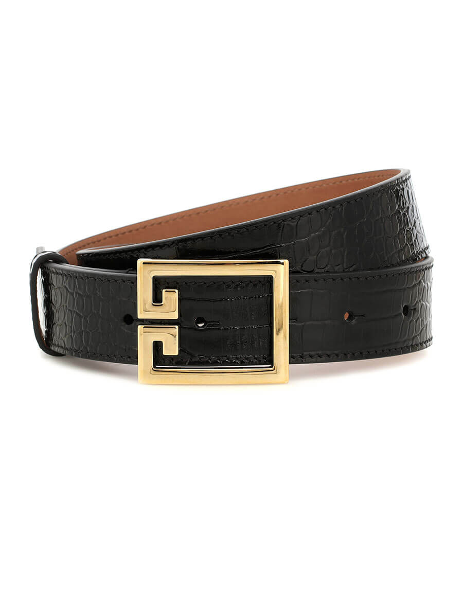 GIVENCHY Croc effect leather belt