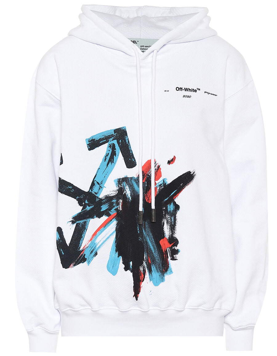 OFF WHITE Cotton jersey hoodie