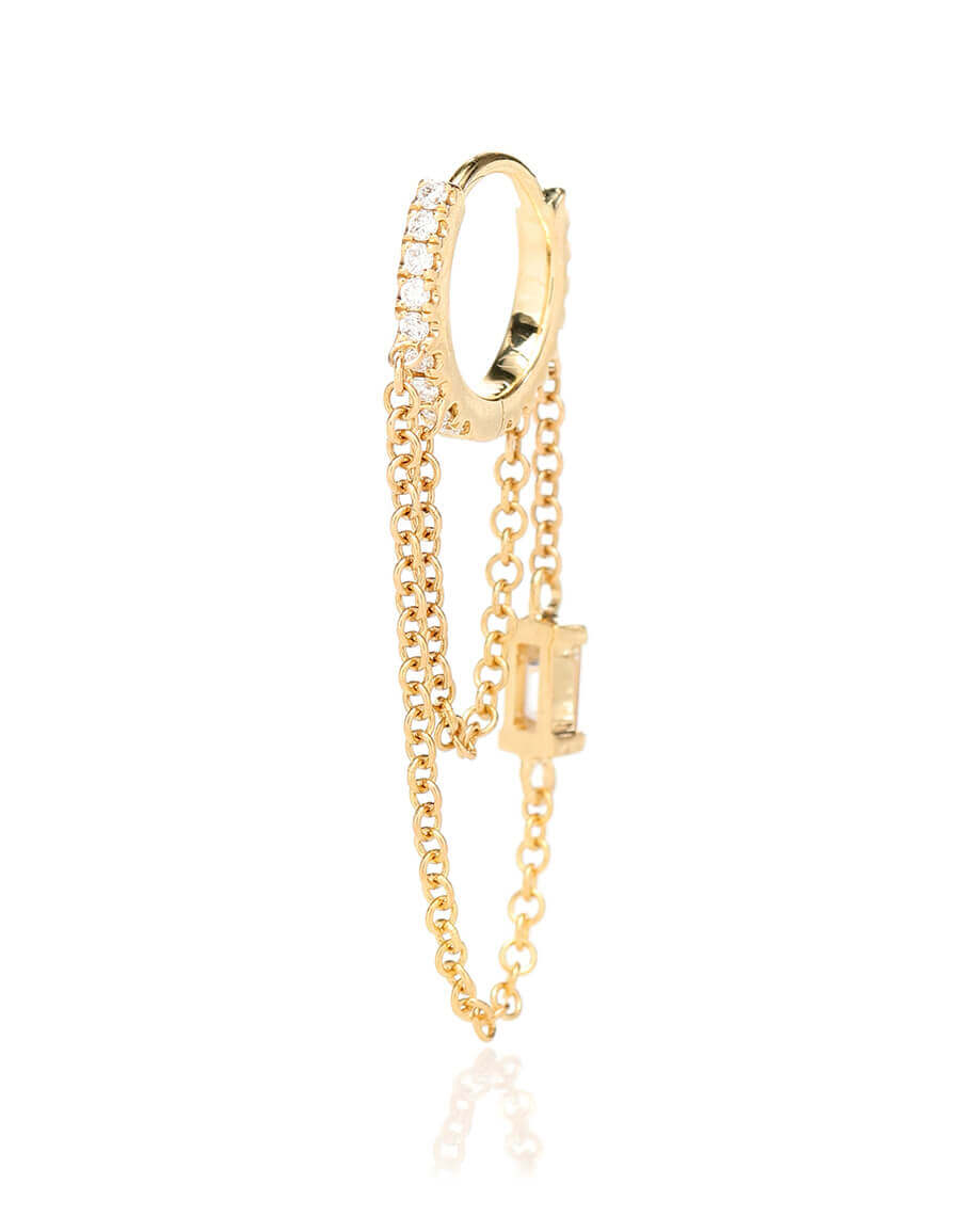 MARIA TASH Diamond Eternity 18k gold single earring with diamonds