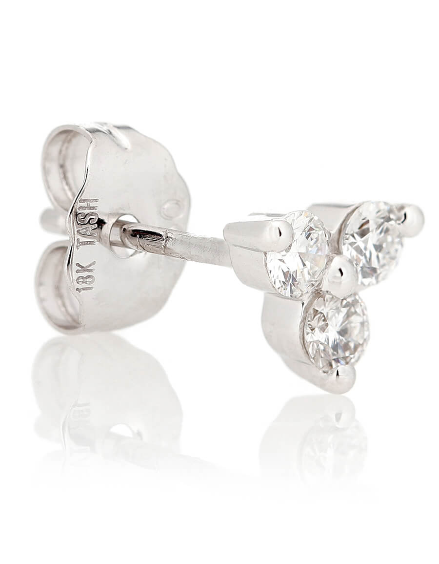 MARIA TASH Trinity Large 18kt white gold single earring with diamonds