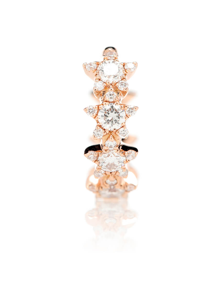 MARIA TASH 8mm Diamond Constellation Eternity Ring 18kt rose gold and diamond earring