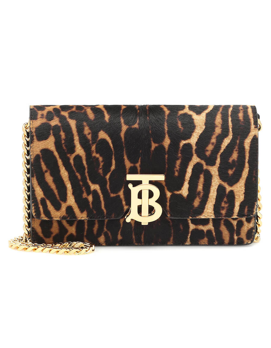 BURBERRY Carrie Small calf hair shoulder bag