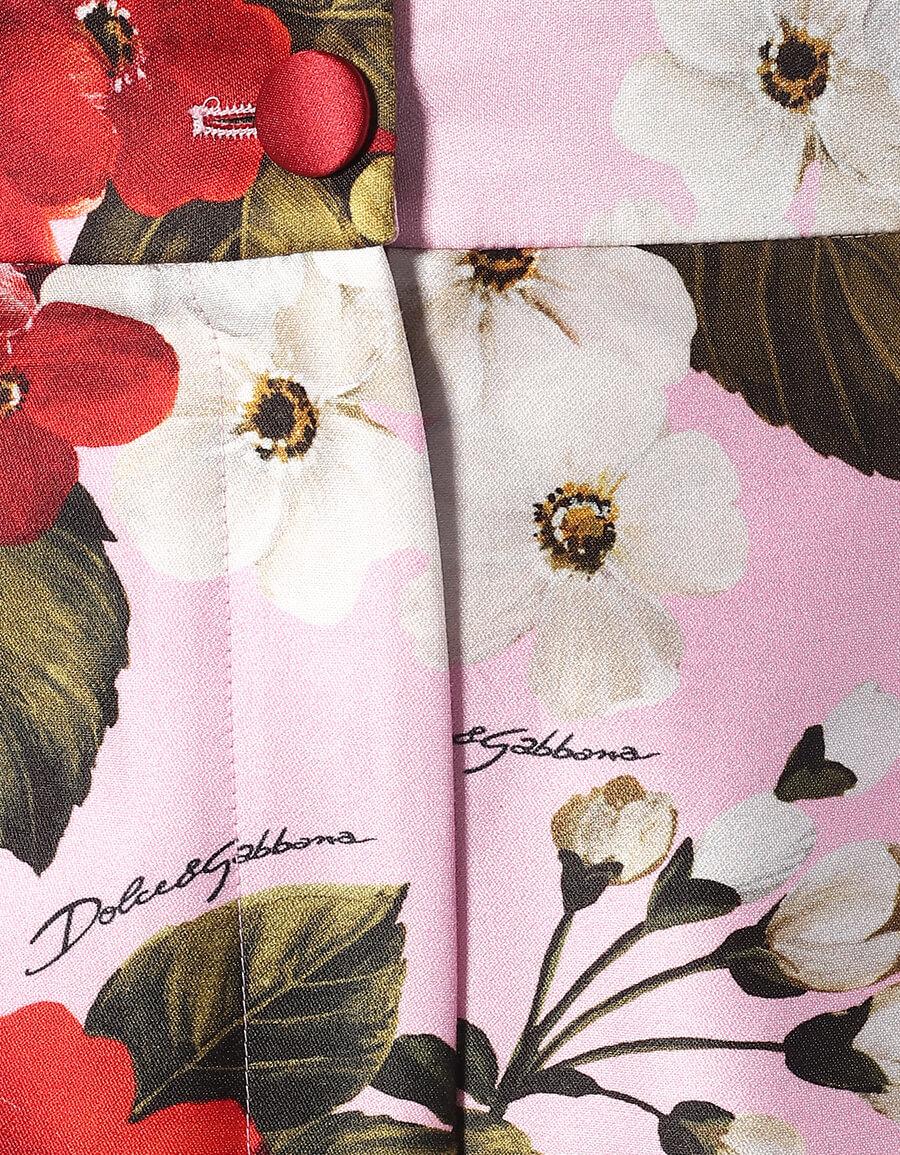 DOLCE & GABBANA Floral cotton and silk shorts