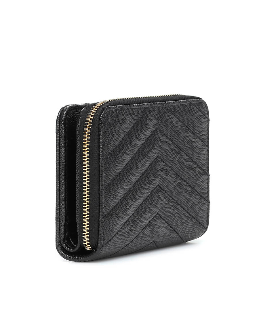 SAINT LAURENT Monogram Compact leather wallet