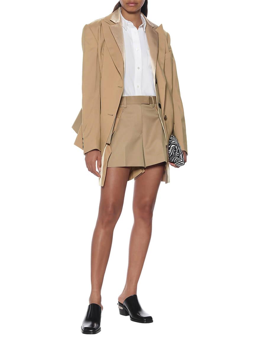 SACAI Wool blend shorts