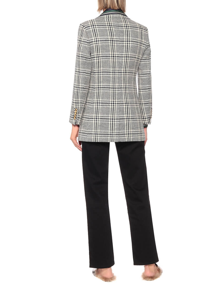 GUCCI Checked wool blend jacket