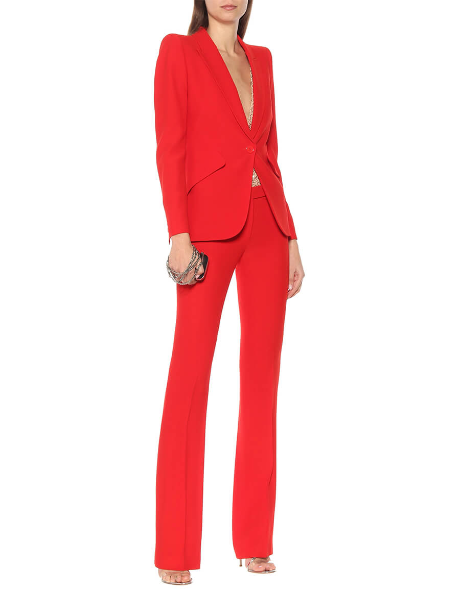 ALEXANDER MCQUEEN Mid rise flared pants